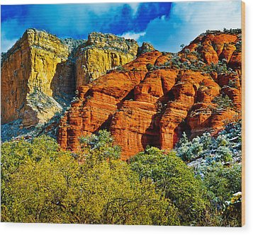 Wood Print featuring the photograph Sedona Arizona - Wilderness Area by Bob and Nadine Johnston