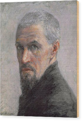 Self Portrait Wood Print by Gustave Caillebotte