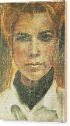 Self Portrait Wood Print by Janet Kearns