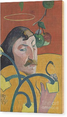 Self Portrait Wood Print by Paul Gauguin