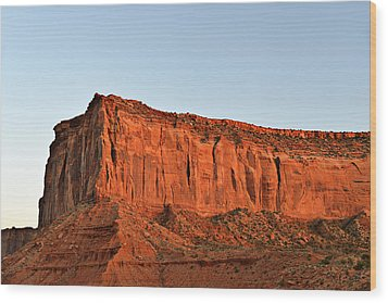 Sentinel Mesa Monument Valley Wood Print by Christine Till
