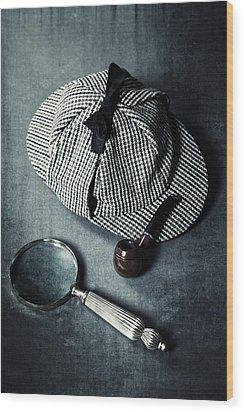 Sherlock Holmes Wood Print by Joana Kruse
