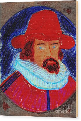 Sir Francis Bacon Wood Print by Richard W Linford