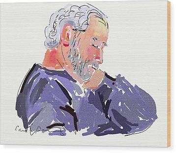 Sleepy Joe Wood Print