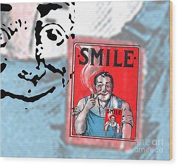 Smile Wood Print by Edward Fielding