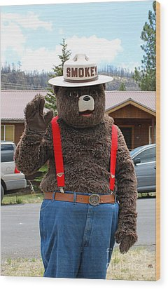 Smokey The Bear Wood Print