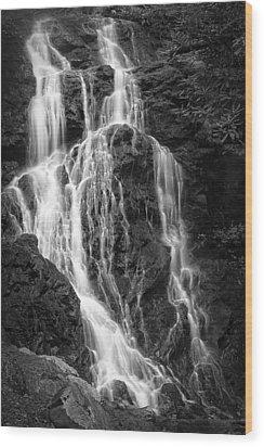 Smokey Waterfall Wood Print by Jon Glaser