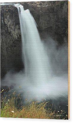 Snoqualmie Falls Wood Print by Kristin Elmquist