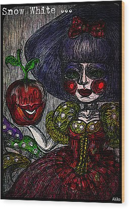 Snow White Wood Print