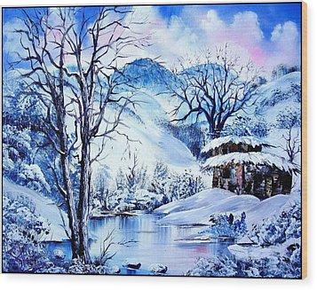 Snowy Day Wood Print by Shirwan Ahmed