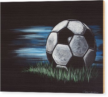 Soccer Ball Wood Print