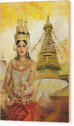 South East Asian Art Wood Print by Corporate Art Task Force
