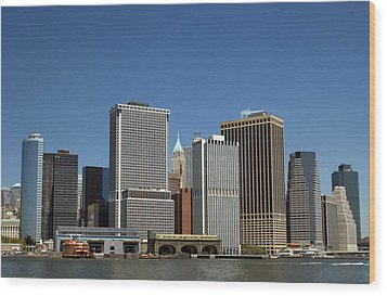 Wood Print featuring the photograph South Ferry by Jim Poulos