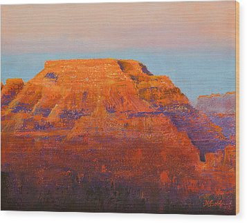 South Rim Sunset Wood Print