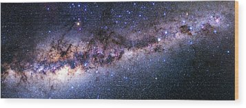 Southern View Of The Milky Way Wood Print