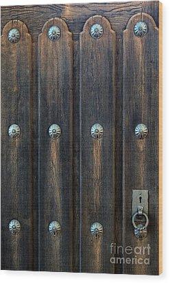 Southwestern Door Wood Print by Gina Savage