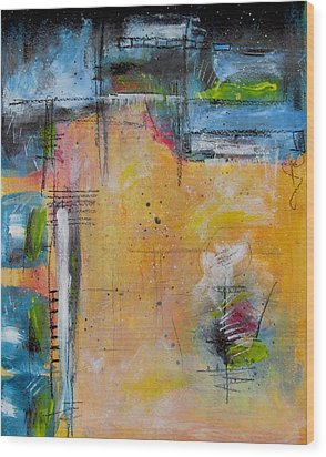 Wood Print featuring the painting Spring by Nicole Nadeau