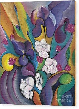 Spring Symphonia  Wood Print by Tiffany Davis-Rustam