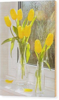 Spring Tulips Wood Print by Amanda Elwell
