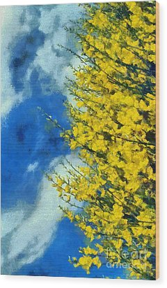 Wood Print featuring the photograph Spring Wild Flowers by George Atsametakis