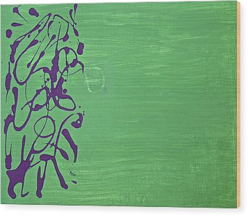 Squiggle Series Wood Print by Tracey Myers