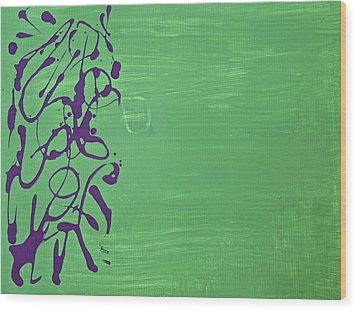 Squiggle Series Wood Print