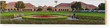 Stanford University Campus, Palo Alto Wood Print by Panoramic Images