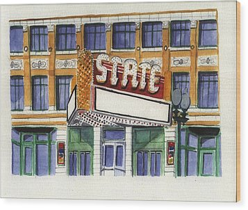 State Theater Wood Print by Rodger Ellingson