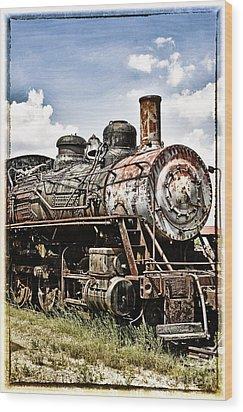 Steam Engine  Wood Print by Birgit Tyrrell