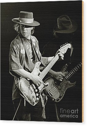 Stevie Ray Vaughan 1984 Wood Print