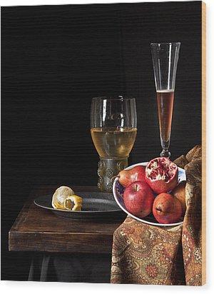 Still Life A La Willem Kalf Wood Print