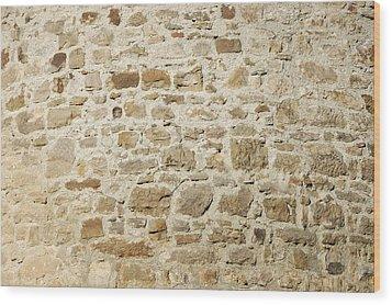 Stone Wall Wood Print by Matthias Hauser