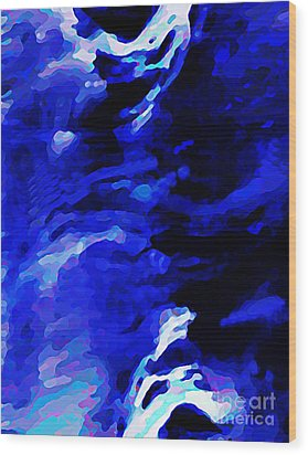 Storm At Sea Wood Print by Sarah Loft