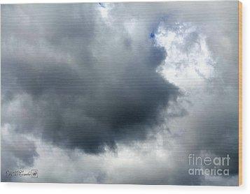 Storm Clouds Wood Print by J McCombie