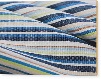 Striped Material Wood Print by Tom Gowanlock