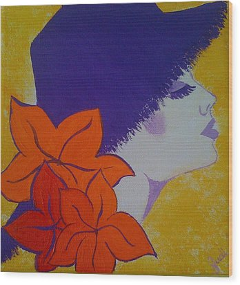 Wood Print featuring the painting Summer Beauty by Judi Goodwin