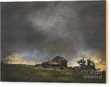Summer Storm Wood Print by Theresa Tahara
