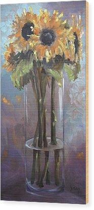 Sunflower Bouquet Wood Print by Donna Tuten