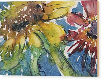 Sunflower Wood Print by Judith Levins