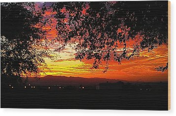 Sunrise Wood Print by Chris Tarpening