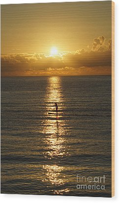Wood Print featuring the photograph Sunrise In Florida Riviera by Rafael Salazar