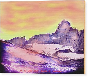 Sunrise In Mountains Wood Print by Dr Loifer Vladimir