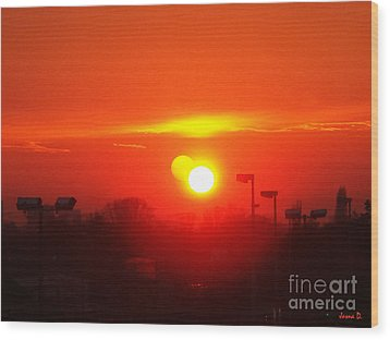 Wood Print featuring the photograph Sunset by Jasna Dragun