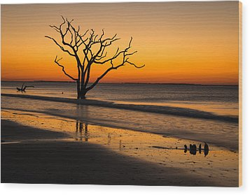 Surreal Sunrise Wood Print by Serge Skiba