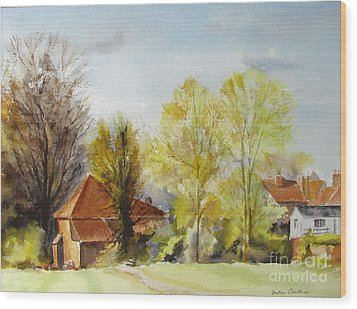 Wood Print featuring the painting Sweet England by Beatrice Cloake