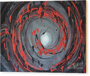 Swirling Around Wood Print