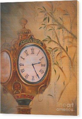 Sylvan's Clock Wood Print