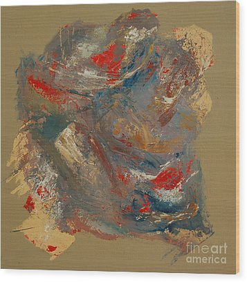 Wood Print featuring the painting Syncopation 2 by Mini Arora