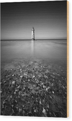 Talacre Lighthouse Wood Print by Dave Bowman