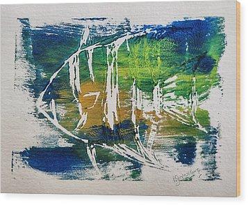 Technicolor Fish Wood Print by Patricia Januszkiewicz